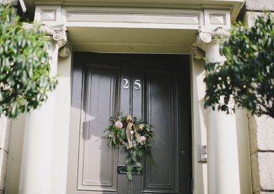 No. 25 Fitzwilliam Place | Front Door and Floral Wreath