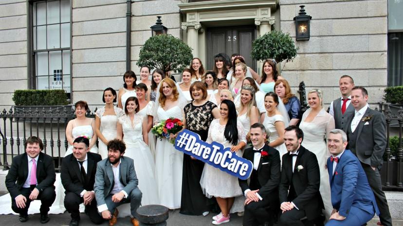 Wedding Dress Wednesday | Group Shot | Outside Number 25 Fitzwilliam Place