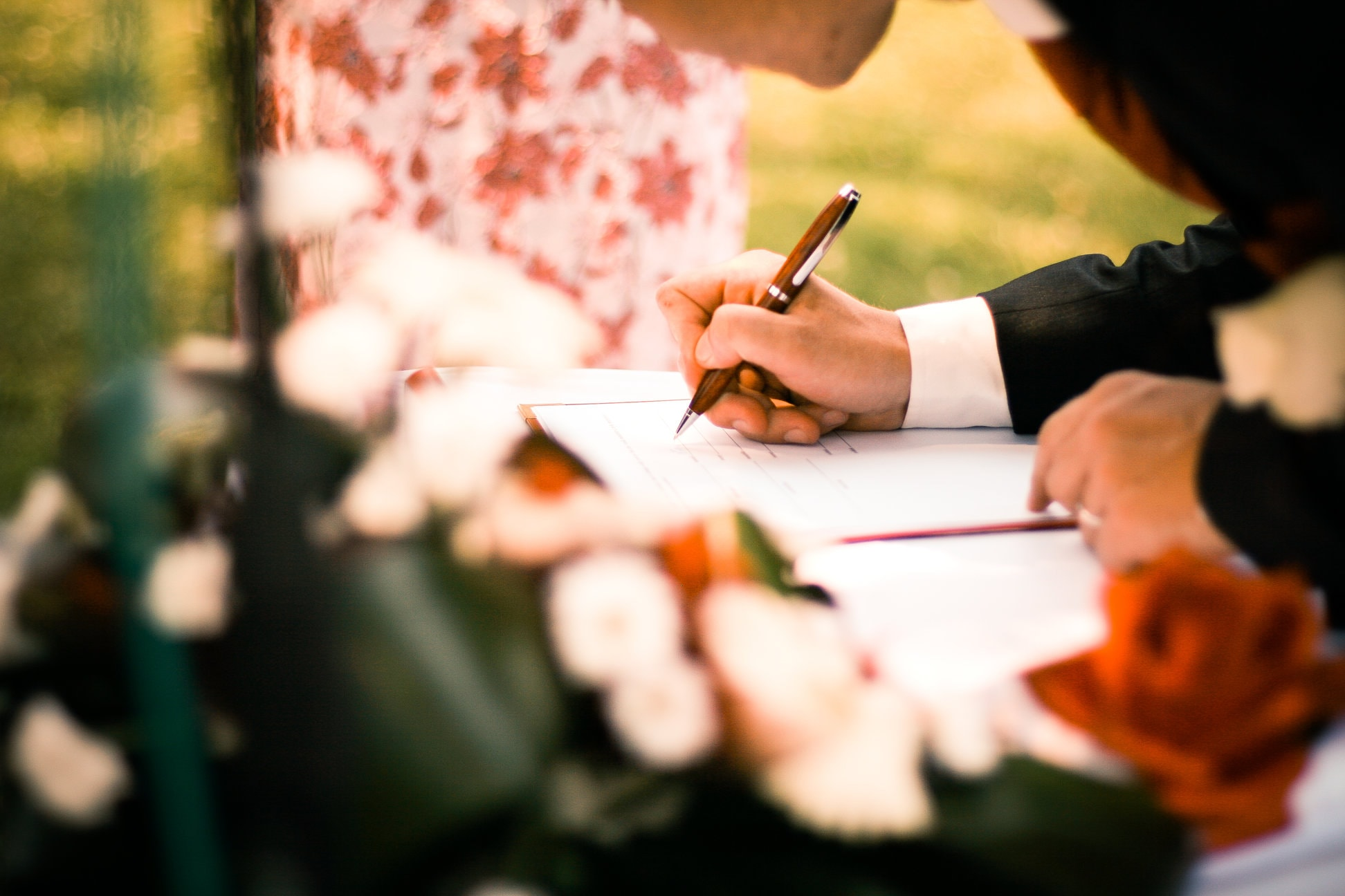 No. 25 Fitzwilliam Place | Signing the Wedding Register