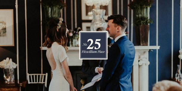 No. 25 Fitzwilliam Place Email Opt-In Pop Up | Wedding Couple