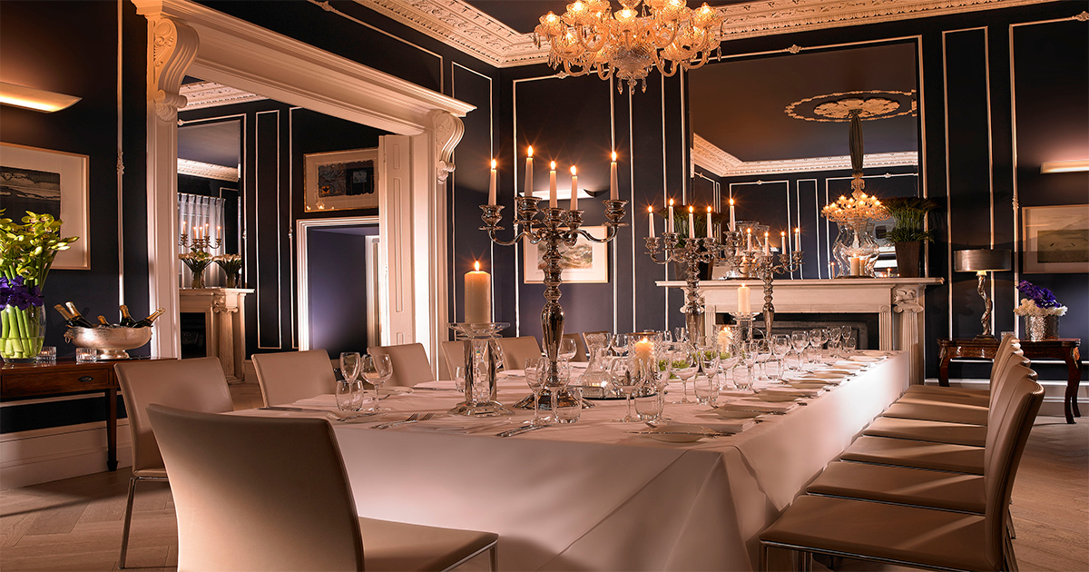 Private dining no 25 fitzwilliam place for Best private dining rooms dublin